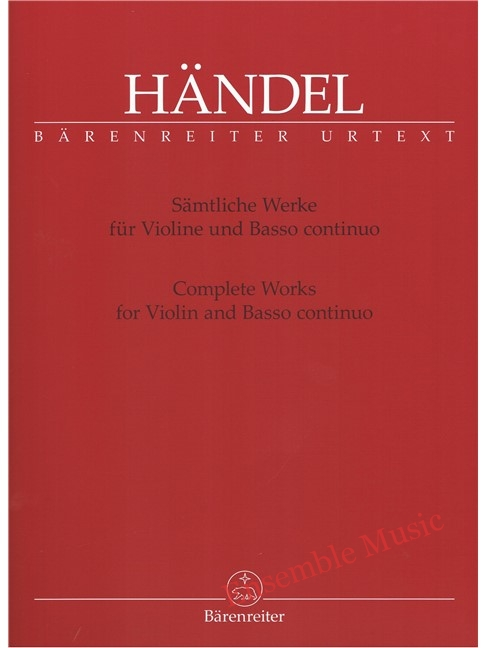 handel complete works for violin and basso continuo