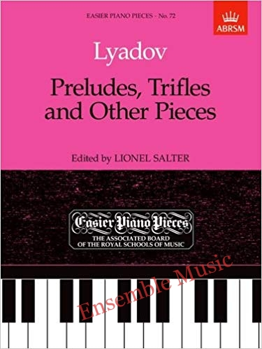 lyadov preludes trifles and other pieces 72