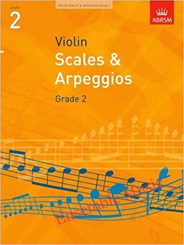 scales and arpeggios violin grade 2