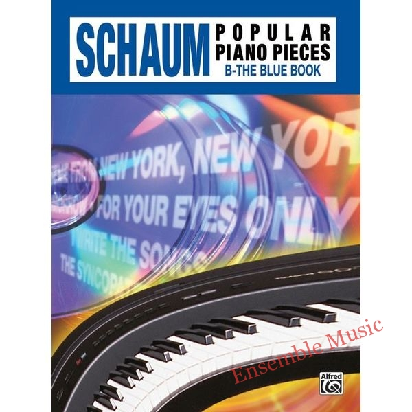 schaum popular piano pieces the blue book