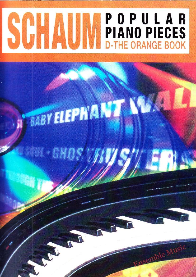 schaum popular piano pieces the orange book