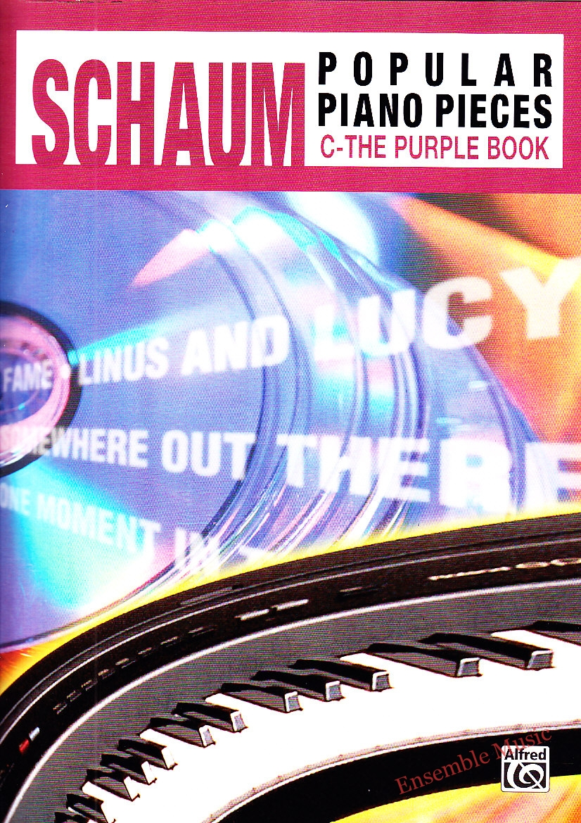 schaum popular piano pieces the purple book