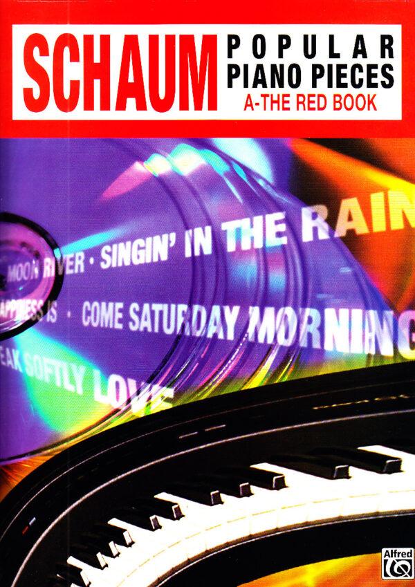 schaum popular piano pieces the red book