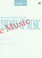 specimen papers for the theory grade 3