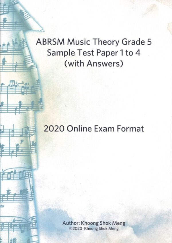 ABRSM music theory g sample test P online exam format