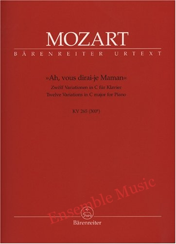 mozart twelve variations in c major for Piano kV