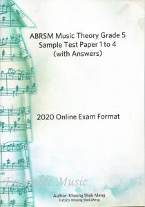 music theory grade 5 sample test 1 to 4 khoong shok meng
