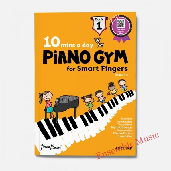 mins a day PIANO GYM for Smart Fingers Book