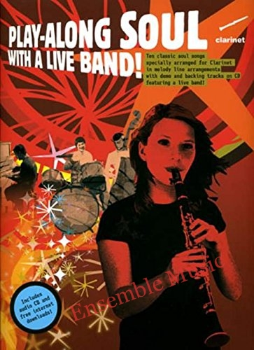 Play along with a live band clarinet